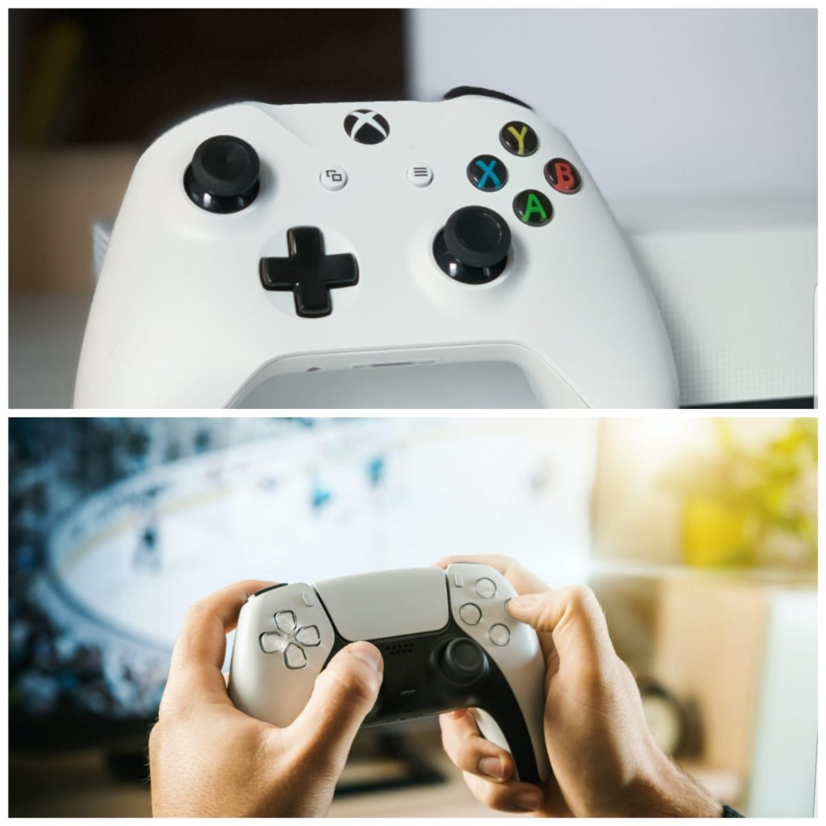 PS5 controller with Xbox Series X controller